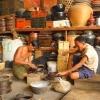 Bagan - preparazione delle scatole di lacca