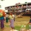 fermata della slow boat sull'Irrawaddy 1