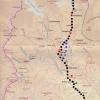 mappa trekking IN ROSSO I PUNTI DI PERNOTTO ARRIVO E PARTENZA