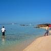 pescatori al lavoro sul blu mare