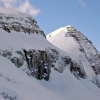 La vetta del Monte Nero Krn dal Monte Rosso