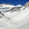 Sullo sfondo la vetta del Vrh Nad Peski - Monte Rosso